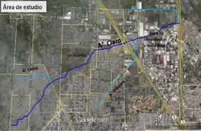 mapa de cuenca del arroyo claro