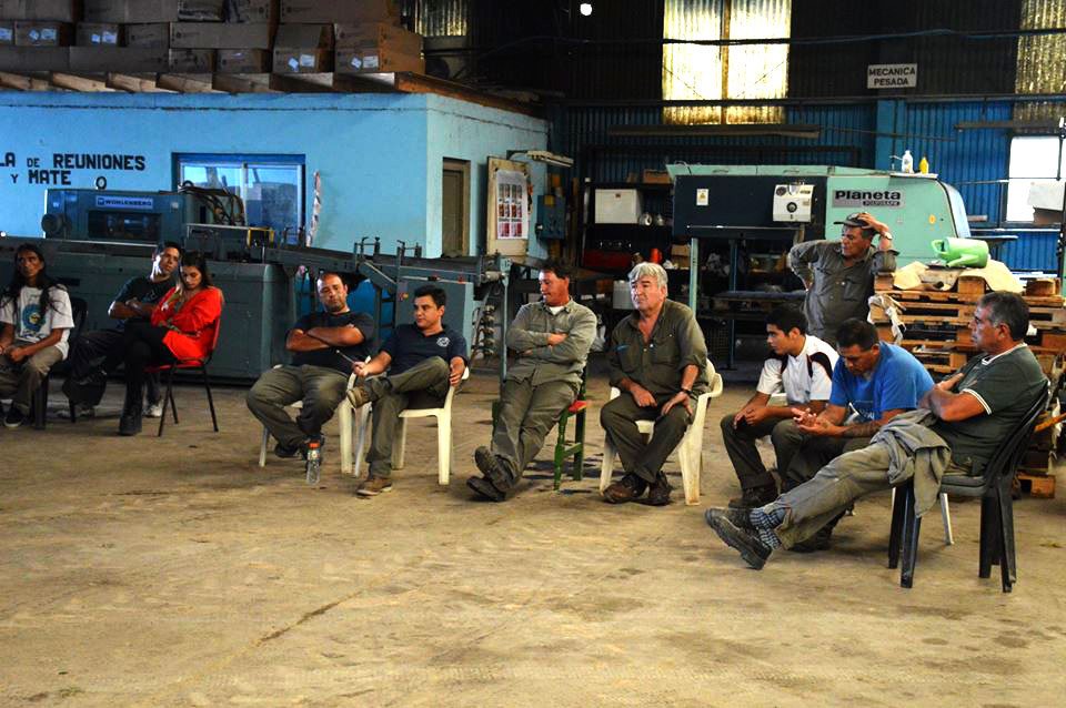 Asamblea de la Cooperativa Unión Solidaria de Trabajadores (Foto gentileza de la Cooperativa UST)