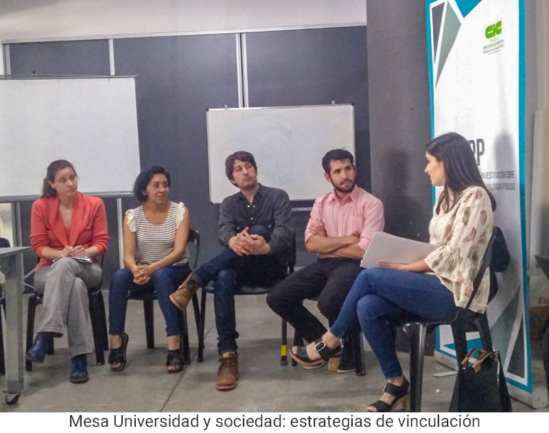 Mesa Universidad y sociedad: estrategias de vinculación