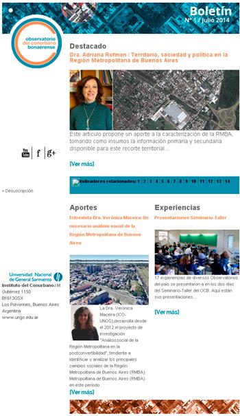 Boletín Nº1 Julio 2014