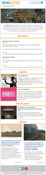 Newsletter septiembre 2016